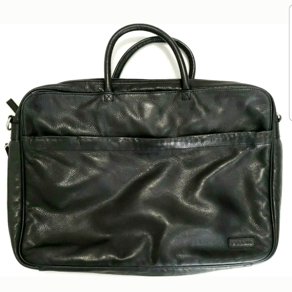 Fossil Other - Fossil Soft Leather Briefcase Attache Laptop Bag